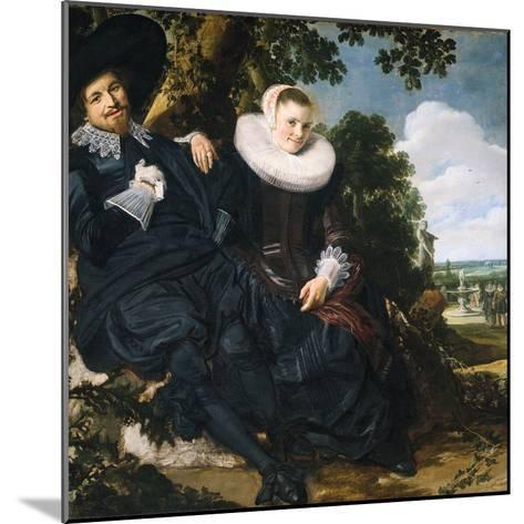 Marriage Portrait of Isaac Massa and Beatrix van der Laen-Frans Hals the Elder-Mounted Photographic Print