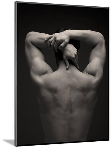 Rear View of a Male Stretching His Arm Behind His Head-Sung-Il Kim-Mounted Photographic Print