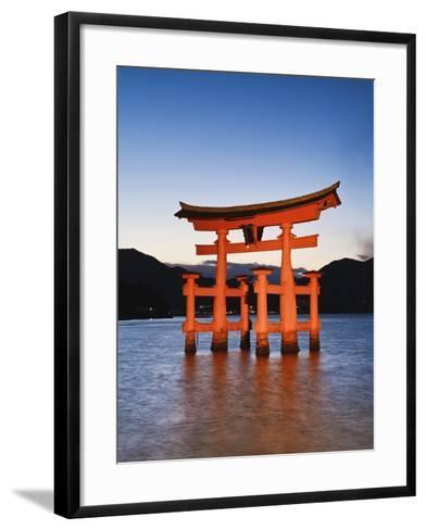 Torii Gate at the Itsukushima Jinga Shrine-Rudy Sulgan-Framed Art Print