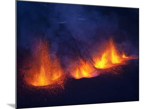 Lava erupting from Eyjafjallajokull--Mounted Photographic Print
