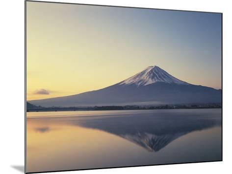 Mt. Fuji reflected in lake, Kawaguchiko, Yamanashi Prefecture, Japan--Mounted Photographic Print