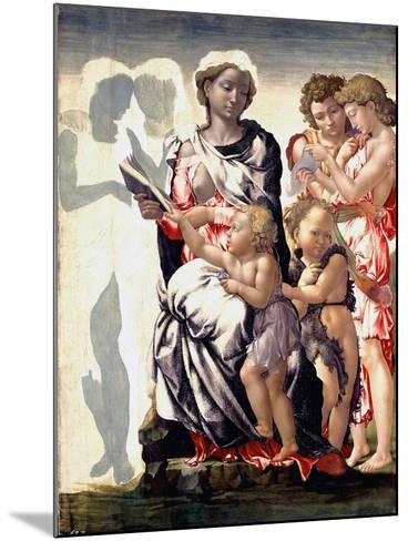 The Madonna and Child with Saint John and Angels-Michelangelo Buonarroti-Mounted Photographic Print