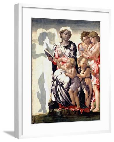 The Madonna and Child with Saint John and Angels-Michelangelo Buonarroti-Framed Art Print