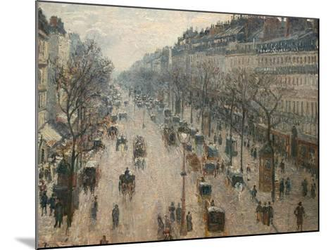 The Boulevard Montmartre on a Winter Morning-Camille Pissarro-Mounted Photographic Print