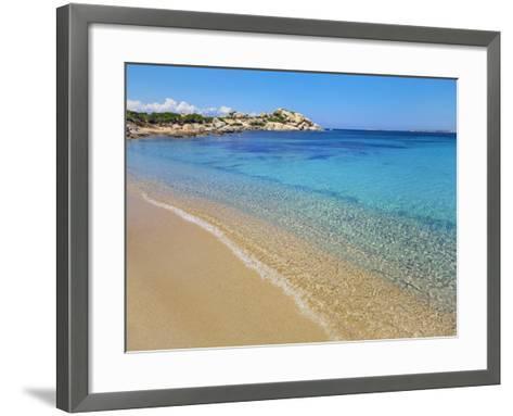 Beach at Spagia la Licciola-Frank Krahmer-Framed Art Print