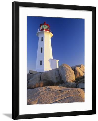 Peggy's Cove Lighthouse, Peggy's Cove, Nova Scotia, Canada-Miles Ertman-Framed Art Print