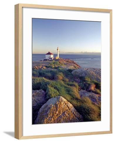 Trial Island Lighthouse with the Strait of Juan De Fuca in Background, Victoria, British Columbia, -Chris Jaksa-Framed Art Print