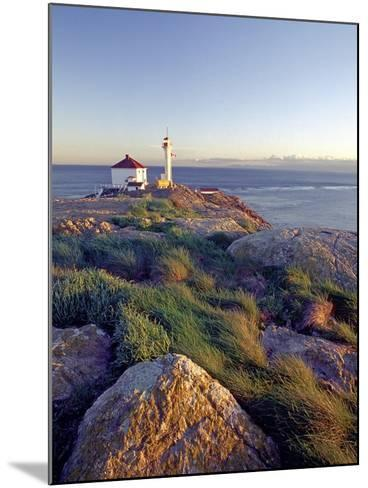 Trial Island Lighthouse with the Strait of Juan De Fuca in Background, Victoria, British Columbia, -Chris Jaksa-Mounted Photographic Print