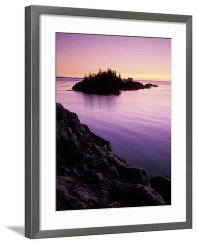 East Quoddy Lighthouse at Sunrise, Campobello Island, New Brunswick, Canada-Garry Black-Framed Art Print