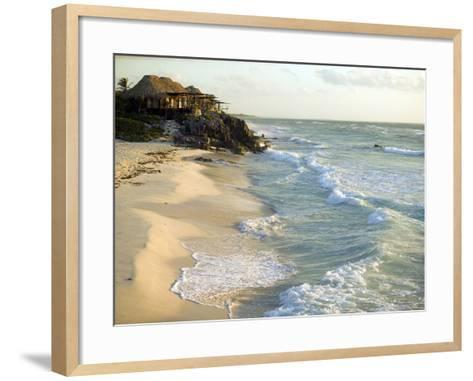 Resort Hut on the Coastline, Overlooking the Beach, Mexico-Roderick Chen-Framed Art Print