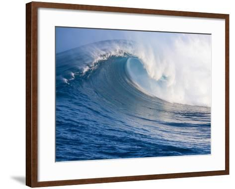 Breaking Waves at a Surfing Area called Peahi, North Shore of Maui, Hawaii-Ron Dahlquist-Framed Art Print