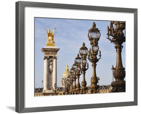 Pont Alexandre-III and Dome des Invalides-Rudy Sulgan-Framed Art Print