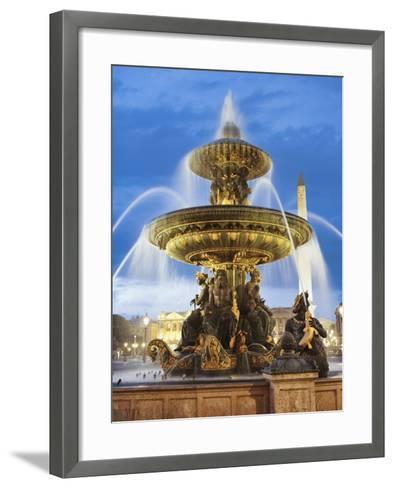 Fountain at The Place de la Concorde-Rudy Sulgan-Framed Art Print