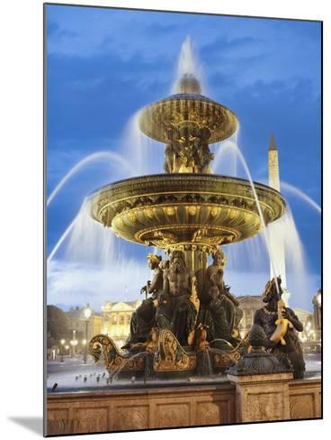Fountain at The Place de la Concorde-Rudy Sulgan-Mounted Photographic Print