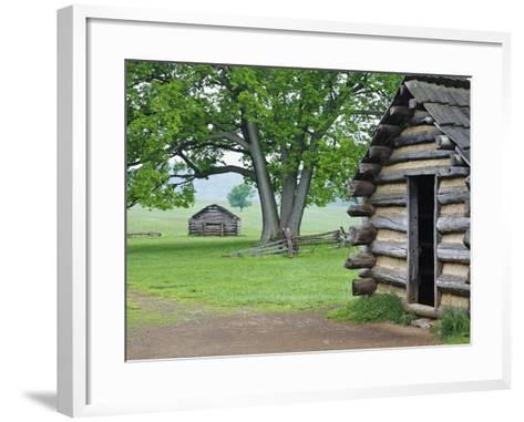 Cabin in Valley Forge National Historic Park-William Manning-Framed Art Print