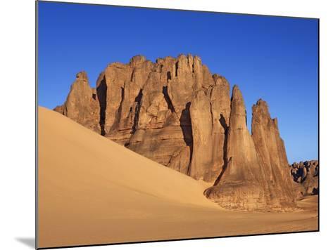Eroded landscape in Tassili du Hoggar-Frank Krahmer-Mounted Photographic Print