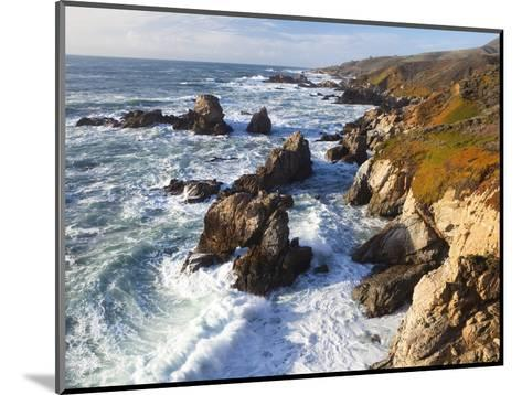 Natural rock arch in surf at Garrapata State Park-Frank Lukasseck-Mounted Photographic Print