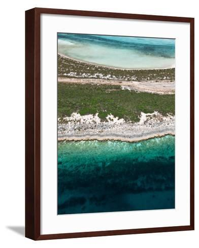 Aerial View of Exuma Cays, Bahamas-Onne van der Wal-Framed Art Print
