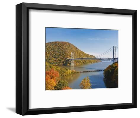 Bear Mountain Bridge spanning the Hudson River-Rudy Sulgan-Framed Art Print