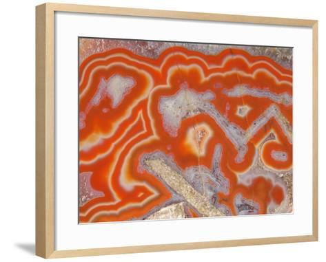 Agate sample-Walter Geiersperger-Framed Art Print