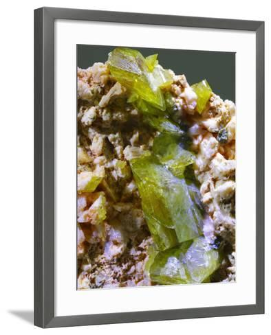 Green Titanite mineral-Walter Geiersperger-Framed Art Print
