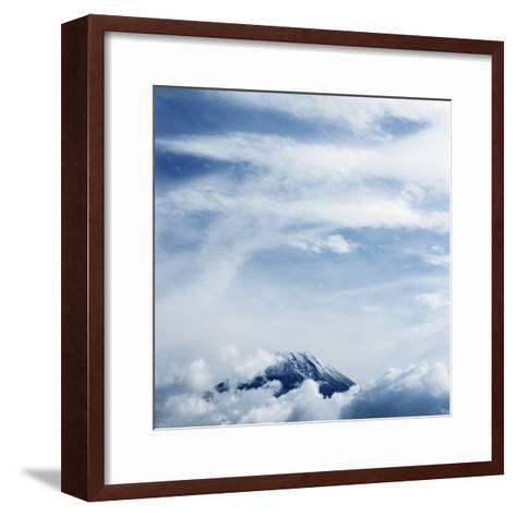 Mount Fuji with Clouds-Micha Pawlitzki-Framed Art Print