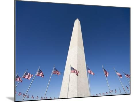 Washington Monument surrounded by American flags-Jos? Fuste Raga-Mounted Photographic Print
