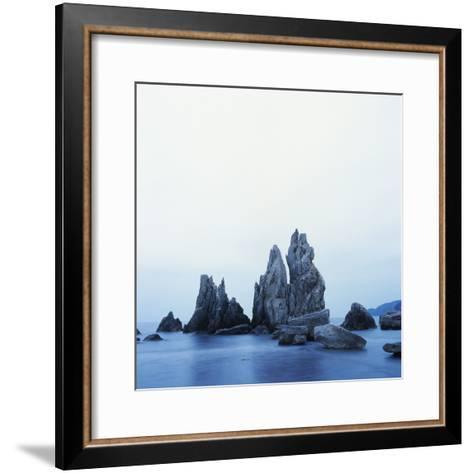 Dramatically Shaped Sea Stacks in Ocean-Micha Pawlitzki-Framed Art Print