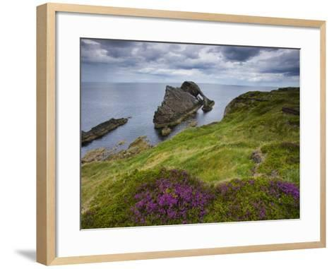 Bow Fiddle Rock, Portknockie, Scotland-Roland Gerth-Framed Art Print