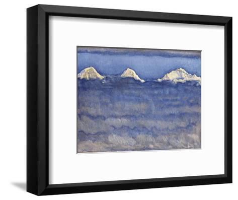 The Eiger, Monch and Jungfrau Peaks Above the Foggy Sea-Ferdinand Hodler-Framed Art Print