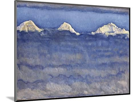 The Eiger, Monch and Jungfrau Peaks Above the Foggy Sea-Ferdinand Hodler-Mounted Photographic Print