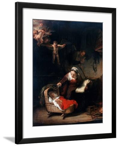 Holy Family by Rembrandt van Rijn--Framed Art Print