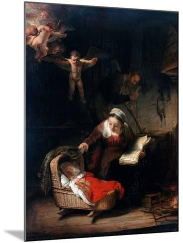 Holy Family by Rembrandt van Rijn--Mounted Photographic Print
