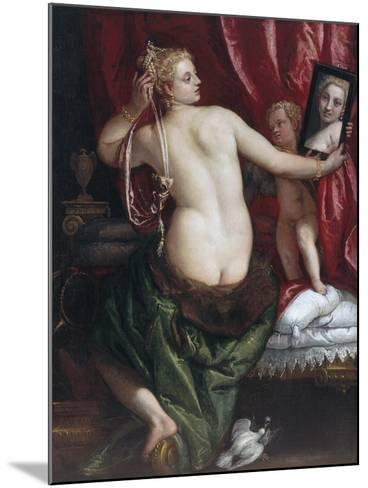 Venus with a Mirror (Venus at Her Toilette) by Paolo Veronese--Mounted Photographic Print