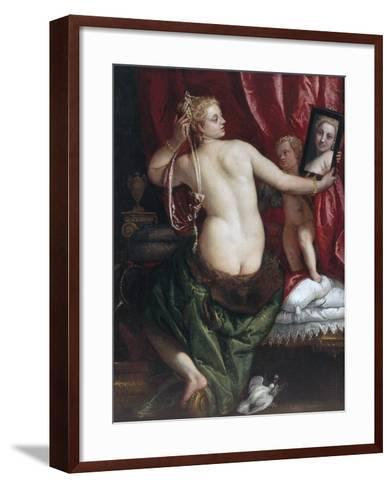 Venus with a Mirror (Venus at Her Toilette) by Paolo Veronese--Framed Art Print