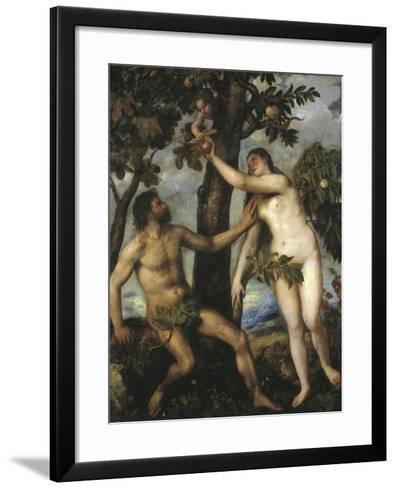 Adam and Eve-Titian (Tiziano Vecelli)-Framed Art Print