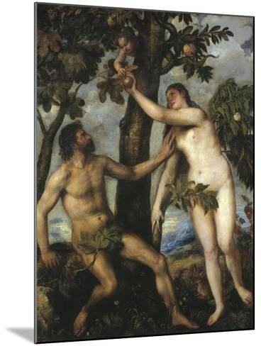 Adam and Eve-Titian (Tiziano Vecelli)-Mounted Photographic Print
