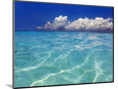Tropical lagoon, Kunfunadhoo, Baa Atoll, Maldives-Frank Krahmer-Mounted Photographic Print