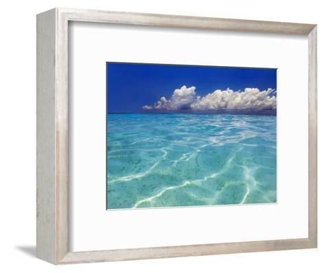 Tropical lagoon, Kunfunadhoo, Baa Atoll, Maldives-Frank Krahmer-Framed Art Print