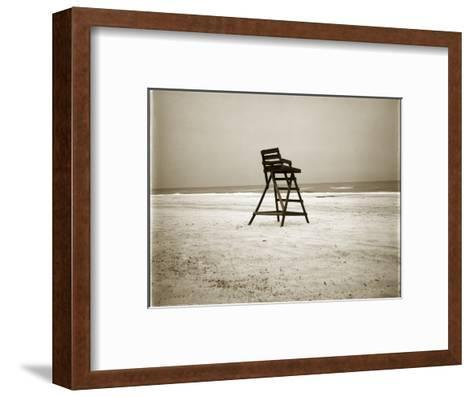 Lifeguard Chair-John Kuss-Framed Art Print
