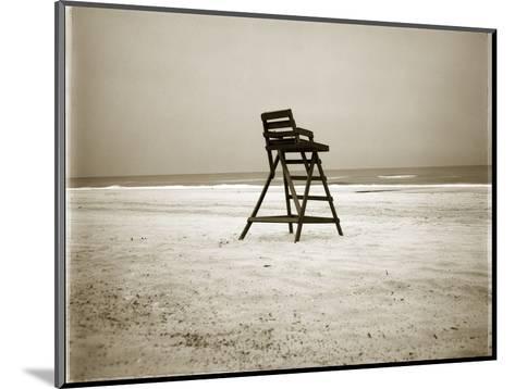 Lifeguard Chair-John Kuss-Mounted Photographic Print