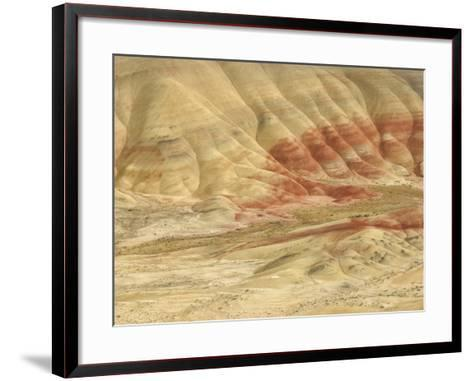 The Painted Hills at the John Day Fossil Beds National Monument, Oregon, USA-Peter Carroll-Framed Art Print