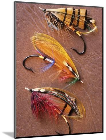 Flyfishing: Full Dressed Atlantic Salmon Flies, Canada.-Keith Douglas-Mounted Photographic Print