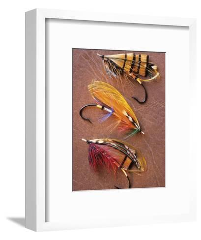Flyfishing: Full Dressed Atlantic Salmon Flies, Canada.-Keith Douglas-Framed Art Print