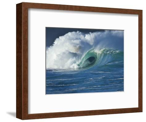Wave, Waimea, North Shore, Hawaii-Douglas Peebles-Framed Art Print