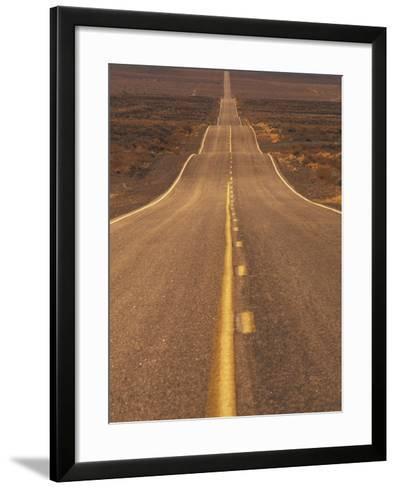 USA, California, Death Valley- Long Shot of Desert Highway-Chris Cheadle-Framed Art Print