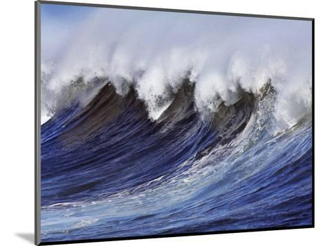 Breaking wave on the North Shore of Oahu-Frank Krahmer-Mounted Photographic Print