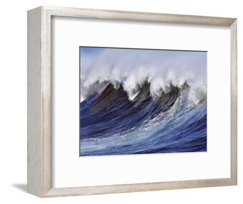 Breaking wave on the North Shore of Oahu-Frank Krahmer-Framed Art Print