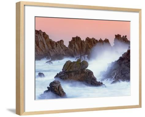 Sea stacks and spume at the Pointe de Creac'h-Frank Krahmer-Framed Art Print