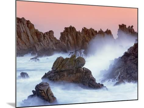 Sea stacks and spume at the Pointe de Creac'h-Frank Krahmer-Mounted Photographic Print